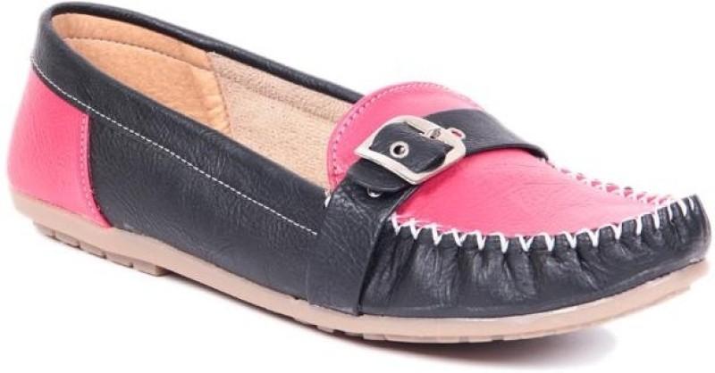 TEN Casual Women Loafers(Black, Pink)