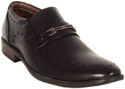 Merashoe MSF8016-Black Slip On Shoes