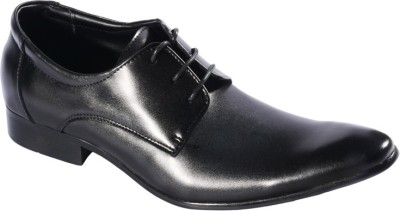 Pinellii Chow Black Italian Hand Crafted Lace Up Shoes