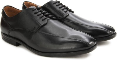 Clarks Glenrise Over Black Leather Lace Up