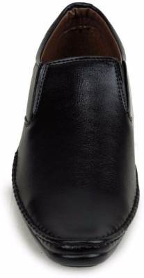 M-Toes M- Toes MT1037 Black Men Formal Shoes Slip On