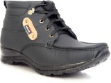 Sole Strings Mens Boots (Black)