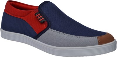 Molessi Red & Blue Canvas Shoes