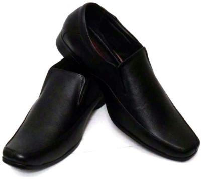 Adler Black Genuine Leather Slip On