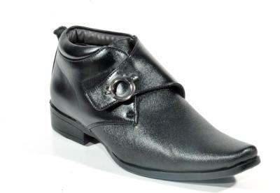 Big Wing Stlyish Black Formal Slip On Shoes