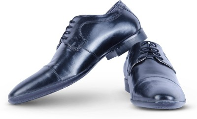 Burkley Black Formal Pure Leather Shoes Party Wear