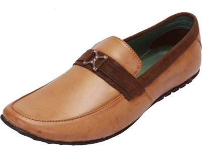 Shoebook Impeccable Casual Loafers(Beige, Brown)