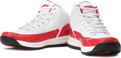 Sparx Basketball Shoes(White, Red)