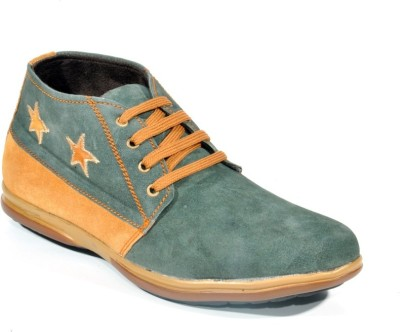 Big Wing Smart Green Casual Shoes