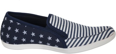 Advin England BLUE CANVAS SLIP ON Canvas Shoes
