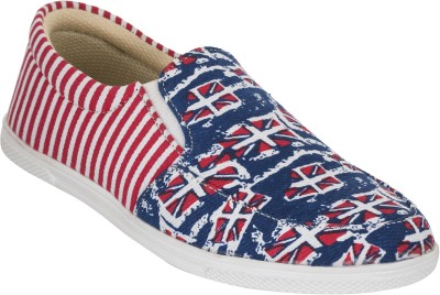 Advin England Red & Blue Printed Lifestyle Shoes Sneakers