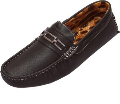 Shoebook Men,S Casual Black Driving Shoes(Black)