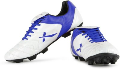 Vector X Fusion White Blue Football Shoes(White, Blue)
