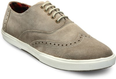 Hats Off Accessories Brogue Taupe Sneakers