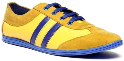Zapatoz Yellow & Blue Sneakers