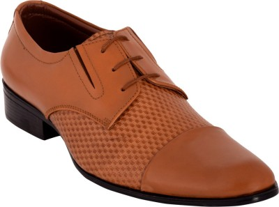 Claude Lorrain Claude Lorrain Men,s Tan Semi Formal Shoes Lace Up