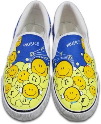 F-Gali The Smiley Slip-on Shoes Canvas Shoes