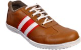 Huggati Casual Shoes (White, Red)