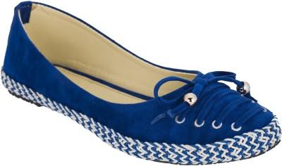 Fashion Feet Youth Pulse Exotic Velvet Ballerinas Bellies(Blue)