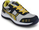 TPL Grey & Yellow Men Sports Running Sho...