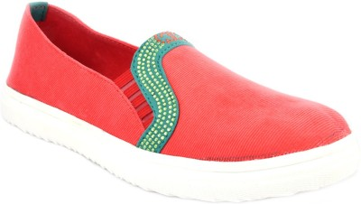Advin England Red & Green Sparkle Shoes Sneakers