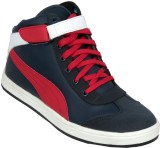 Ztoez Red Casual Shoes (Red, Blue)