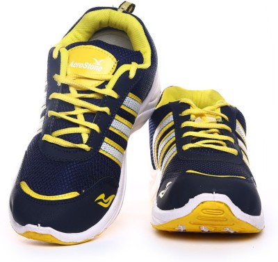 Aerostone ARS-PLAYER-1-NAVY-YELLOW Running Shoes