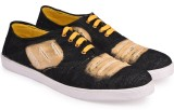 True Soles Men's Black Denim Sneakers (B...