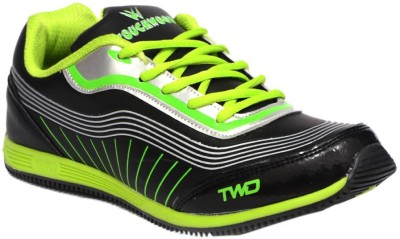 Twd Tp1125 Blk Grn Running Shoes