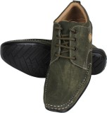Nexq Green Casual Shoes (Green)