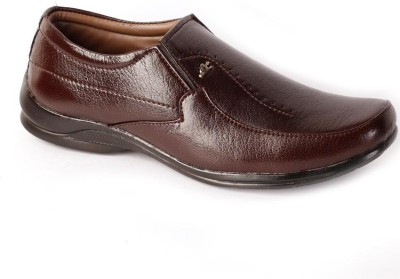 Shoes N Style Brown Formal-11 Slip On Shoes