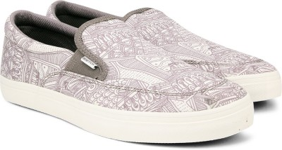 United Colors of Benetton Men Canvas Loafers(Grey, White)