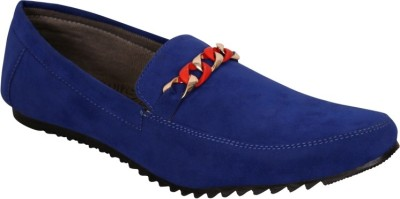 Oora Blue Suede Loafers
