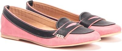 TEN Peach Black Loafers