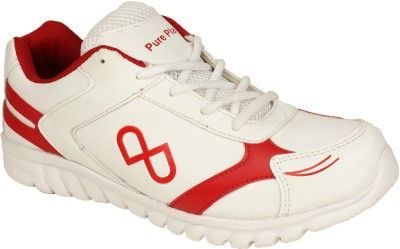 Pure Play PPGSS011-White-Red Walking Shoes