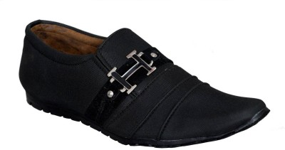 Adjoin Steps AS-16-Black-Formal Casual Shoe