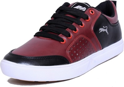 Black Tiger Men's Synthetic Leather Casual Shoes 8097-Cherry-6 Casuals