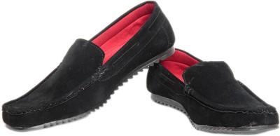 Pede Milan Wov Style- Black Loafers