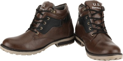 US Standard Brown & Black Boot Boots