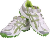 Proase Stud Cricket Shoes (White, Green)