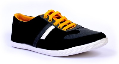 Sam Stefy Black Yellow A6 Canvas Shoes