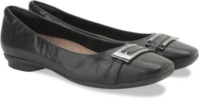 Clarks Candra Glare Black Leather Slip On shoes(Black)