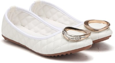 MFT Couture Casual Bellies(White) at flipkart