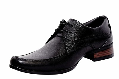 Zoom Zoom Men's Pure Leather Formal Shoes G-1871-Black-6 Lace Up