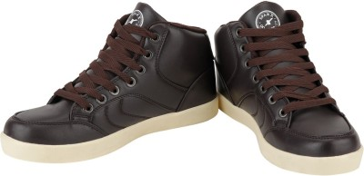 Sparx Stylish Make Sneakers(Brown)