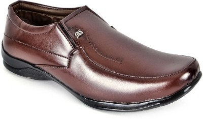Shoes N Style Brown Formal-18 Slip On Shoes