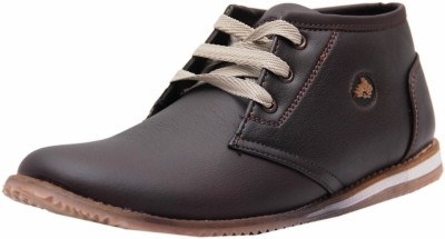 West Code Men's Synthetic Leather Formal Shoes 098-Brown-7 Casuals