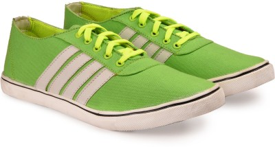Andrew Scott Mens Green Canvas Sneakers(Green)