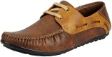 FAUSTO Boat Shoes (Brown)