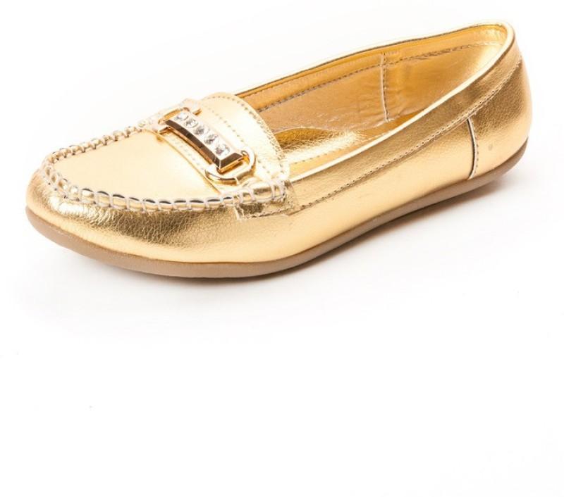 Marc Loire Marc Loire Womens Golden Embellished Flat Loafers Loa